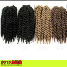 Wholesale 2018 new arrival havana mambo twist synthetic crochet briading hair 12inch , nubian twist braid hair