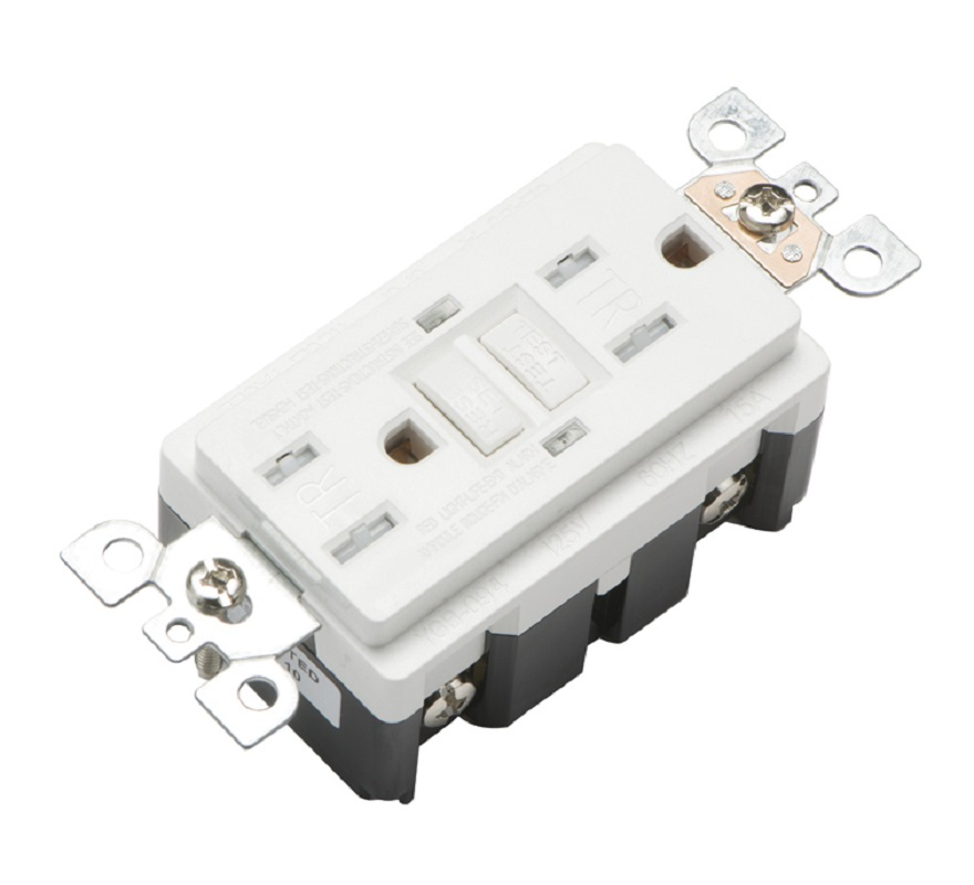 US American GFCI GFI receptacle 15 amp TR Tamper Resistant outlet Self Test ซ็อกเก็ตไฟ led, UL listed