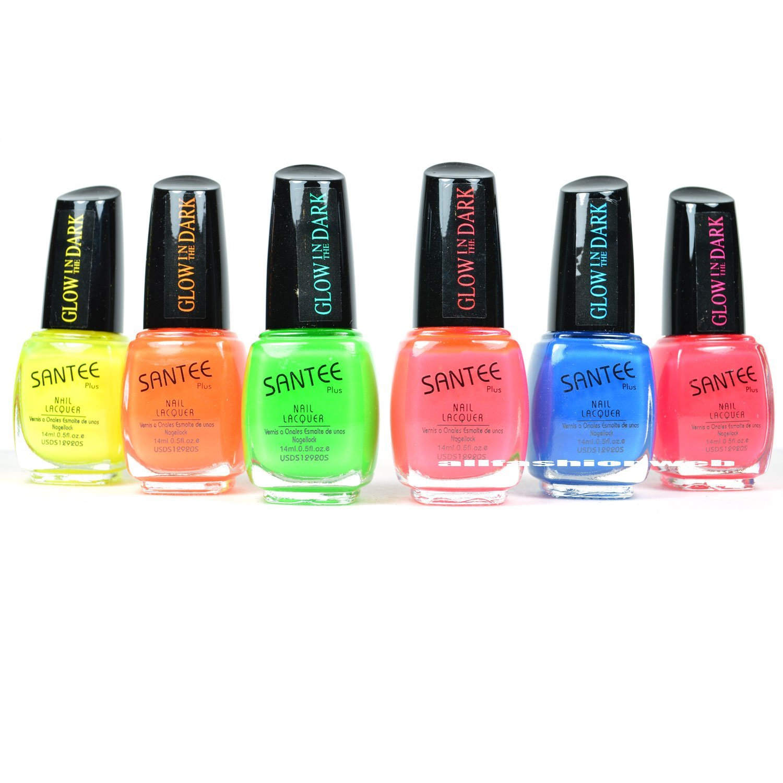 Buy 12 Color Glow In The Dark Nail Lacquer Nail Polish Combo Set + ...