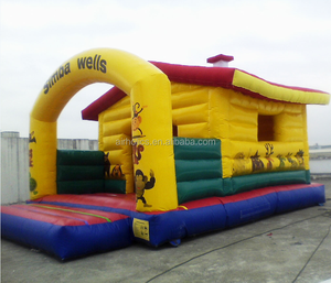 A1078 2018 Happy Jungle Island Giant Inflatable Bouncer