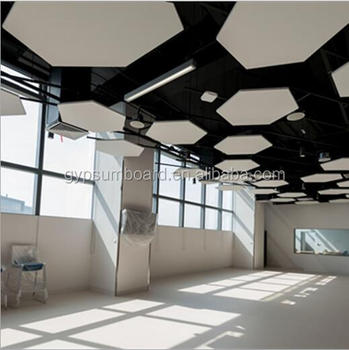 Light Weight Decorative Sound Absorbing Panels Hexagonal Suspended
