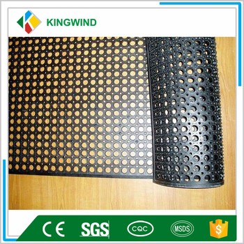 Kitchen Rubber Mat With Drainage Holes Straw Mat