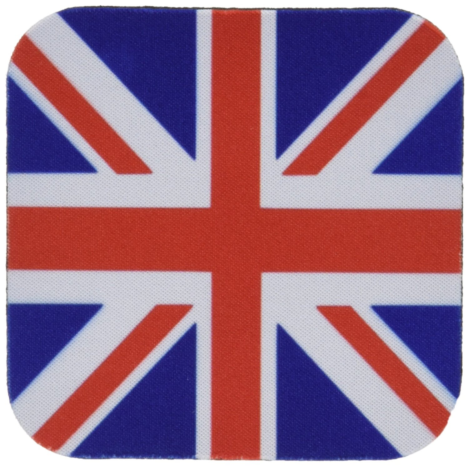 3dRose cst_159852_1 British Flag Red White Blue Union Jack Great Britain United Kingdom UK England English Souvenir Gb Soft Coasters, Set of 4