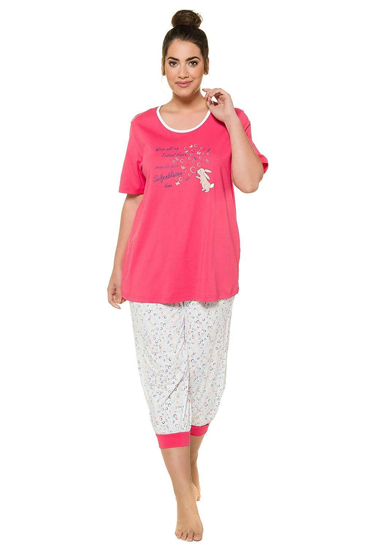 1a8a971d74d Get Quotations · Ulla Popken Women s Plus Size Bunny Bubble Short Pajama  Set 715756
