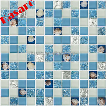 China Distributor Diamond Crystal Gl Mix Shell Bathroom Mosaic Tile Decorative Wall Mirror