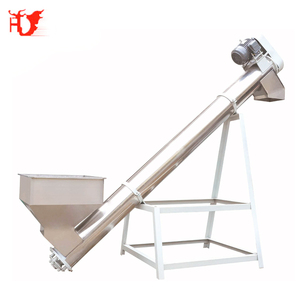 Food grade flexible hopper screw auger conveyor for plastic powder/flour powder
