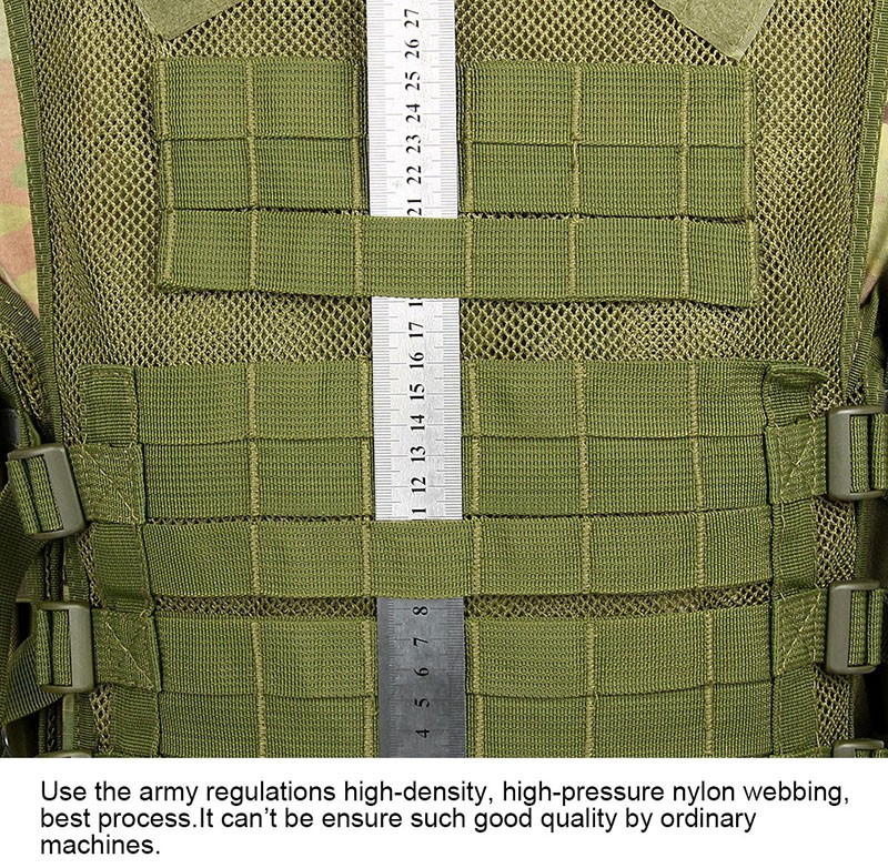 Multi-fuction Army Green Airsoft Military Gear Security Tactical Sports Reflection Safety Vest