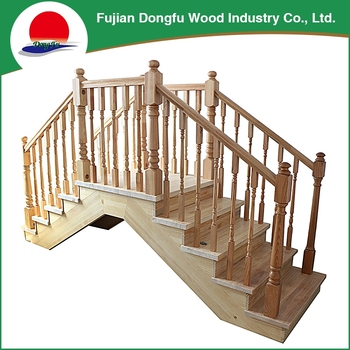 Custom Cheap Pine Modern Outside Wooden Staircase Designs