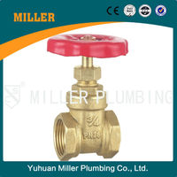 Yuhuan Miller ML-1007 thread connection 200 WOG 3/4 inch direct buried ms58 Brass Gate valve