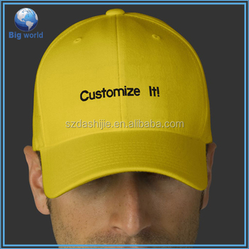 6 Panel High Profile Structured Baseball Cap/caps Embroidered ...