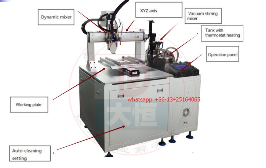AB part glue pneumatic glue dispenser
