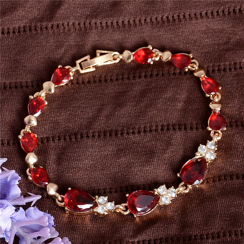 Мода ювелирных изделий 5 цветов 18 К позолоченные цветы браслеты женщины / девушки Cz австрийский хрусталь браслеты браслеты рождественский подарок