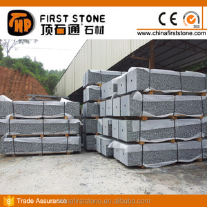 G654 Dark Grey Granite Rough Finish Paving Stone