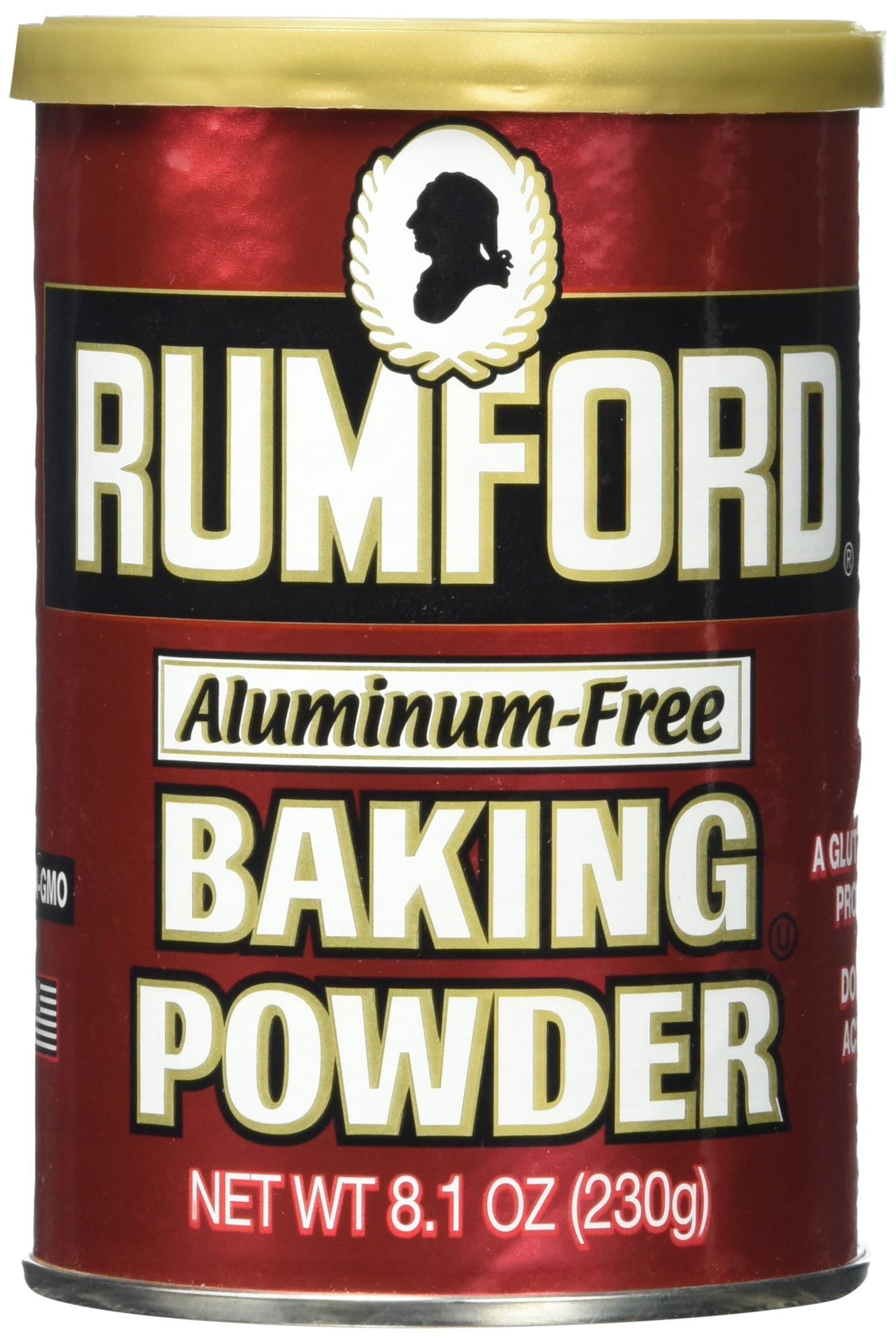 Rumford Aluminum Free Baking Powder, 8.1-Ounce Canisters - Pack of 4