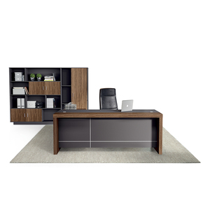 JOHOO office furniture modern L shape executive table boss CEO desk