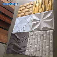 Panel decorativo para pared 3D pvc wall panel art wall panel