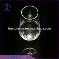 Wholesale Customized Personalized Handmade Blown Glow Clear Hottest Drinking Champagne Flute Glass