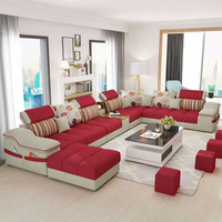 Modern High Quality Living Room Furniture Fabric Sectional Sofa Set
