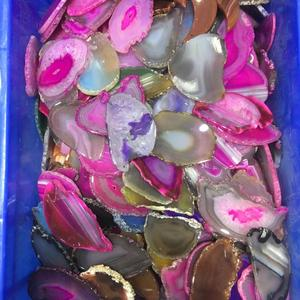 Hot selling high quality colorful agate slices for sale