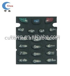 Custom Black Silicone Rubber mobile phone keypad