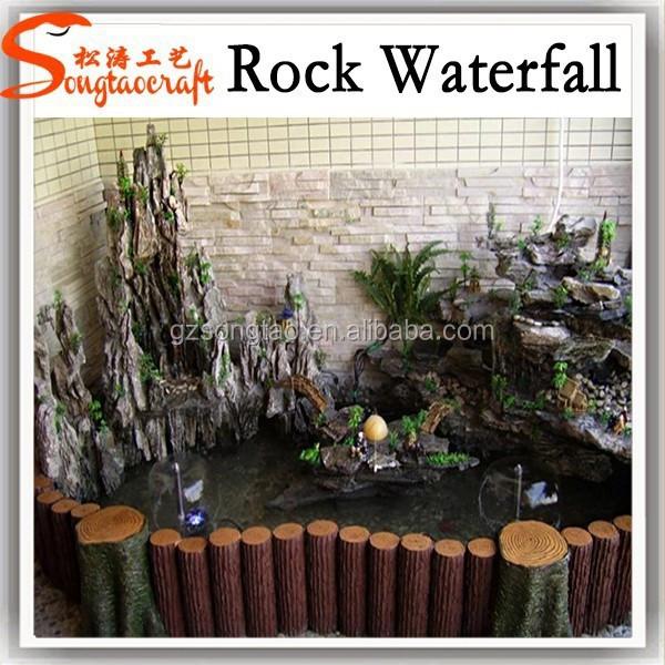 Made in fontane legno ingrosso in fibra di vetro di vetro cascata ...