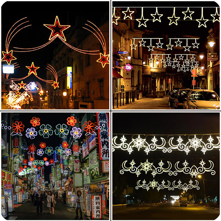 Commercial Outdoor Decorations Led Motif Christmas Street