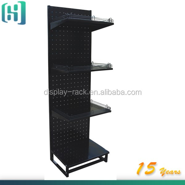 beauty products display shelf / floor standing metal display shelf / metal display shelf rack HSX-S206