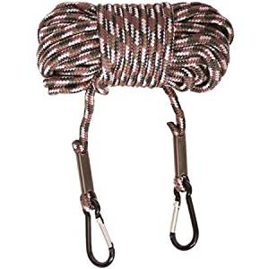 Hard Core Brands Bone Collector, Durable Nylon Paracord Construction, Tree Stand 30' Hoist Rope- Carabineers at each end for security