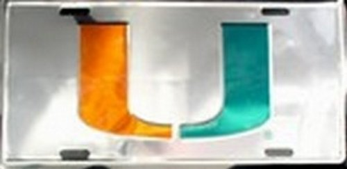 Miami Hurricanes Chrome LICENSE PLATES Plate Tag Tags auto vehicle car front