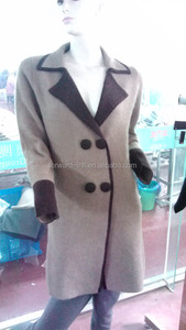 high quality luxurious fashion lady knitted cashmere coat cloth
