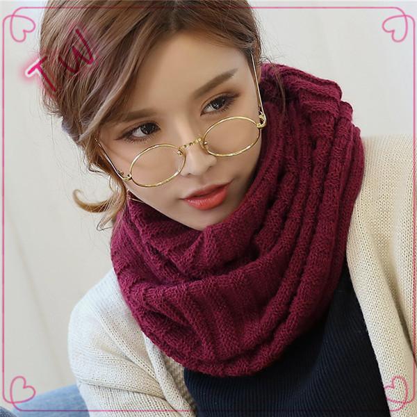 Unique 2017 diseño de moda de invierno accesorios de cuello bufanda de lana  tejida para mujeres