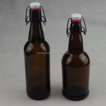 Empty 16oz 500ml Amber Swing Top Glass Beer Bottlesbrown Beer Glass