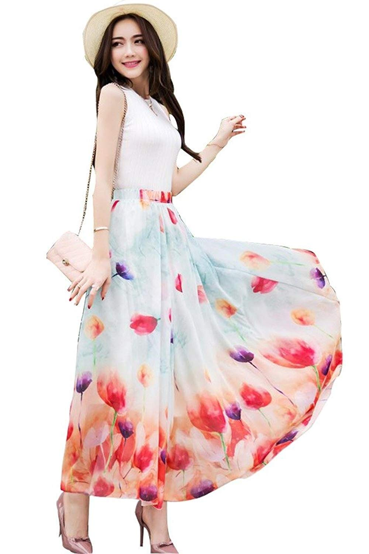 111fb7077bb Flowy Maxi Skirt Pink - Data Dynamic AG