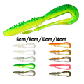 Noeby soft fishing lures 14cm 4pcs bag soft baits shads 14cm leurre souple shad for ul