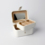 Custom White Leather Ornaments Cosmetics Gift Box