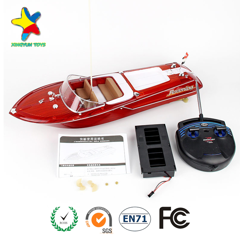 2017 hottest 4 channels Thunder radio remote control RC boat XY-1022