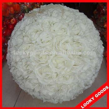 High Quality White Wedding Flower BallsHanging Decorative Flower