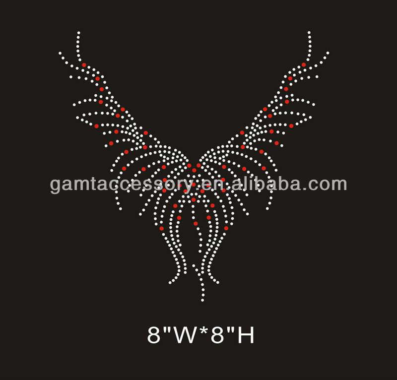 lady rhinestone transfer neckline for wedding dress