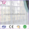 100%polyester voile embroidered sheer curtain fabric/cornelly