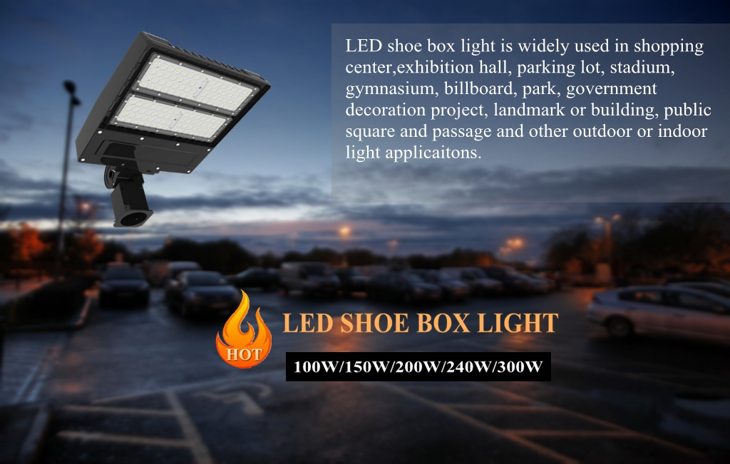 200W led parking lot garage led shoe box light for airport runway lighting