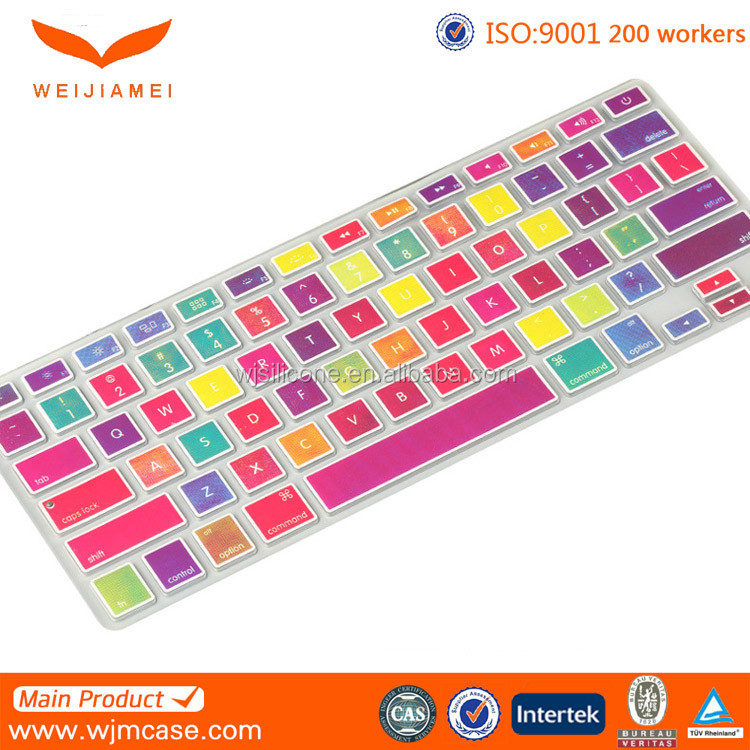 Silicone Keyboard Cover Skin for MacBook Colorful