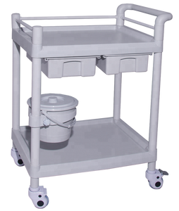 Hospital Medical workstation with computer /laptop Trolley /cart Material Emergency Case Histrory