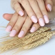 Новые 24 шт., милые модные карамельные овальные декоративные искусственные ногти, Длинные круглые мягкие розовые ногти P01X(Китай)