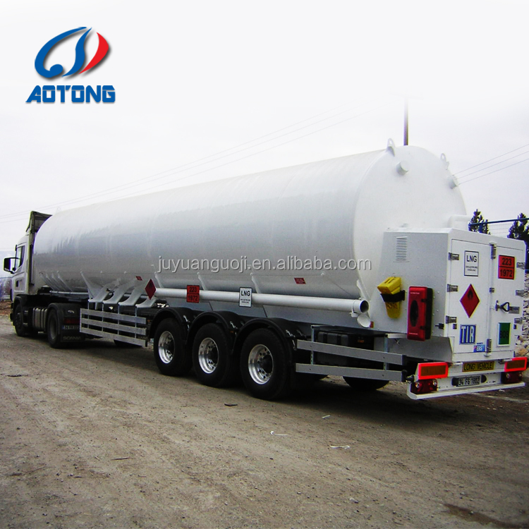 40-60cbm liquefied natural gas storage tank trailer (LNG storage and transportation equipments)