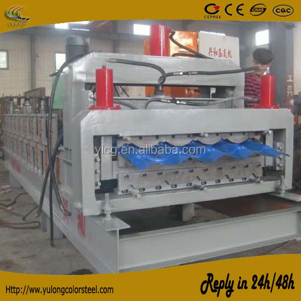 double corrugated and ibr roof sheet making machine