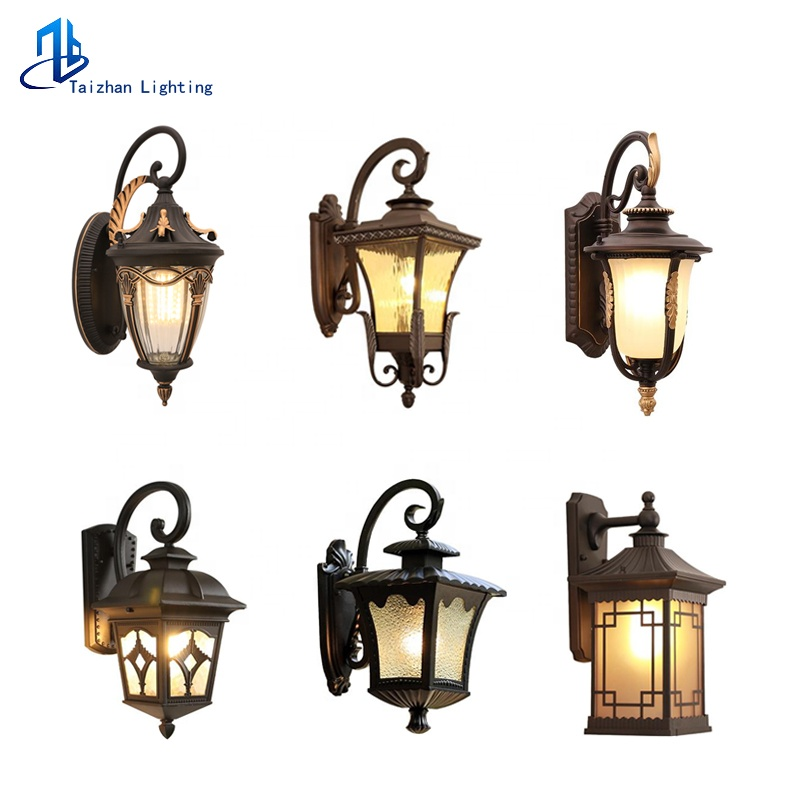 Antique Exterior Wall Lights Aluminum