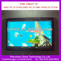 Naked eye 3d tablet V706 MTK6589 7 inch quad core dual sim tablet support 3d naked pictures of girls