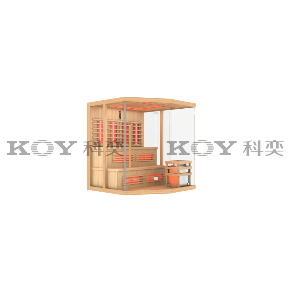 KOY New sauna, infrared sauna cabin wholesale fir sauna 33S-L7