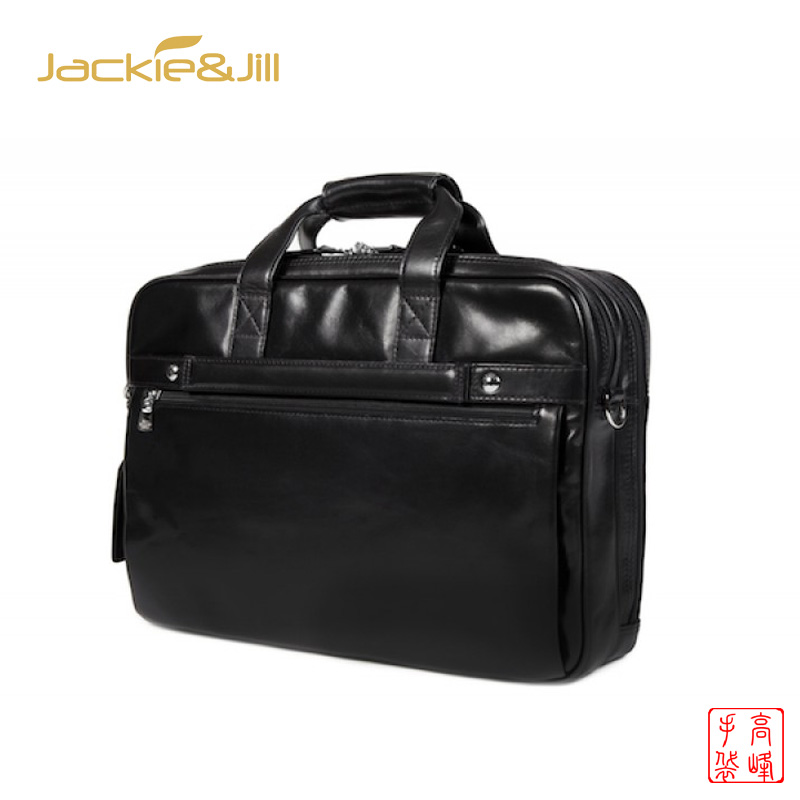 new design luxury Men Black Genuine Leather Briefcase waterproof fashion business laptop bag for man travel office men handbags