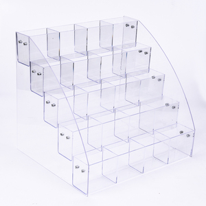 Crystal Pen Holder Display Case with Small Lattice Custom